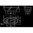 Ванна отдельностоящая KNIEF Loom 0100-088 1900х950x600 (перелив щелевой)