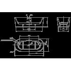 Ванна отдельностоящая Fresh, KNIEF, 0100-230, 1800х800х600, белый матовый (перелив щелевой)