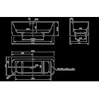 Ванна пристенная KNIEF Tidy 0100-242 1800х800х600 (перелив щелевой)