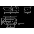 Ванна отдельностоящая KNIEF Neo 0100-076 1700х800х600 (перелив щелевой)