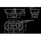 Ванна отдельностоящая KNIEF Form 0100-087 1900х900x600 (перелив щелевой)