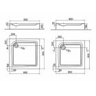Піддон для душової кабіни Kolo First XBK1680000