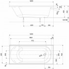 Ванна Kolo Opal Plus 160x70 (XWP136000N)