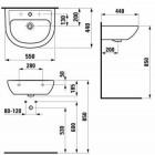 Умывальник Laufen Pro 8.1095.1.000.104.1 (550x450мм) с отв. под смеситель