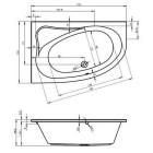 Ванна Riho Lyra 170x110 R , BA6300500000000